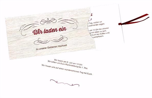 Einladungskarten für Goldene Hochzeit – edel & individuell