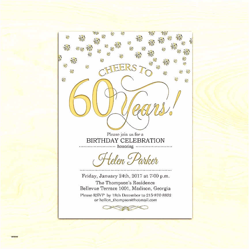Geburtstagseinladungen Zum 60 Frisch Einladungskarten Vorlagen