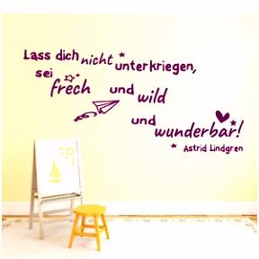 Wandtattoo fürs Kinderzimmer Zitate von Astrid Lindgren Kinder Baby