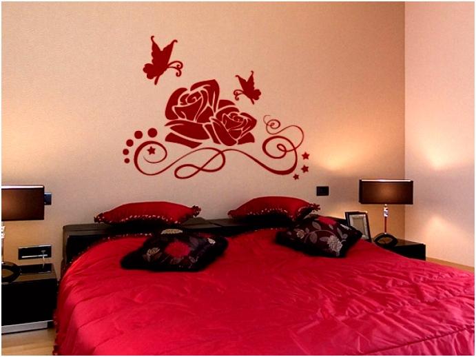 Wandtattoo Rosen und Schmetterlinge Bildmotive
