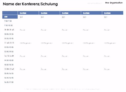 Zeitplan Erstellen Excel Design