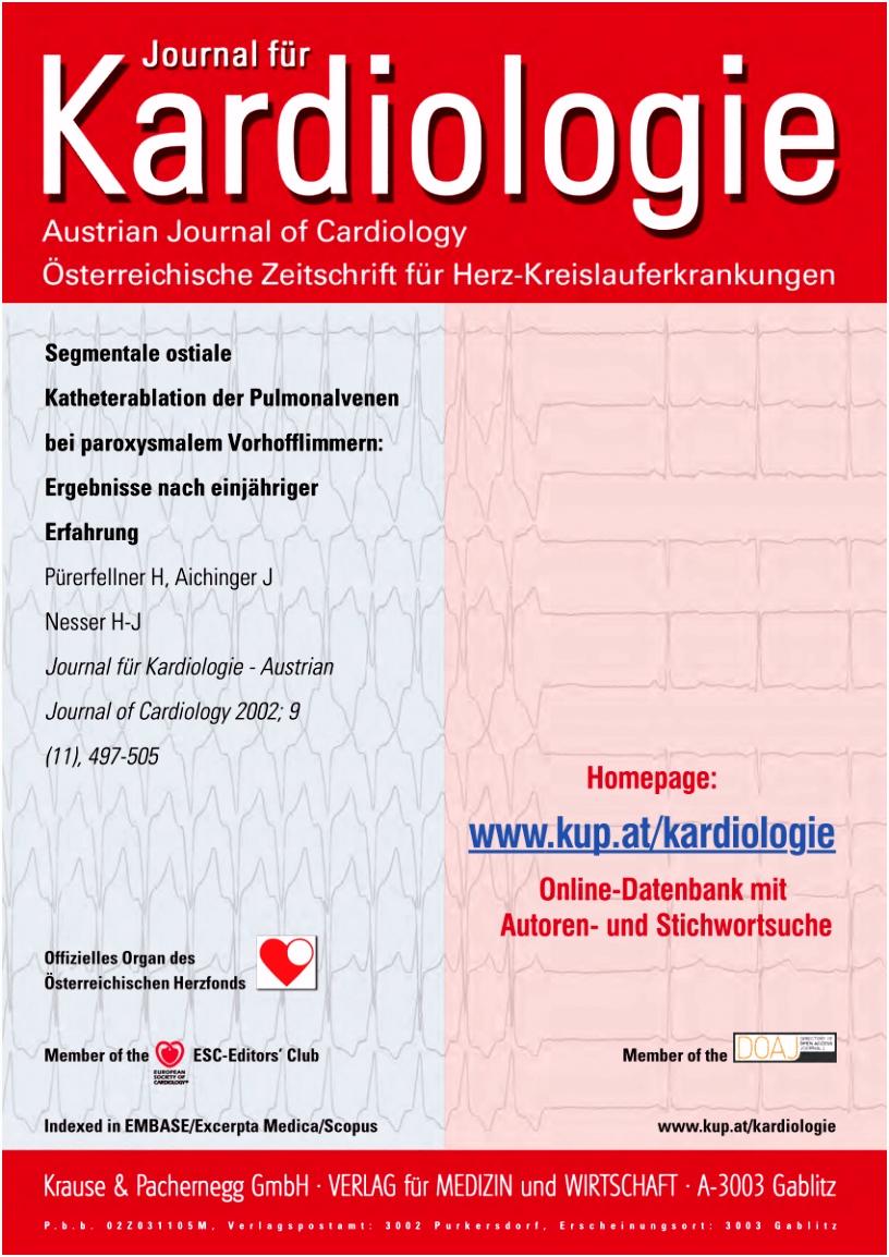 PDF Segmentale ostiale Katheterablation der Pulmonalvenen bei