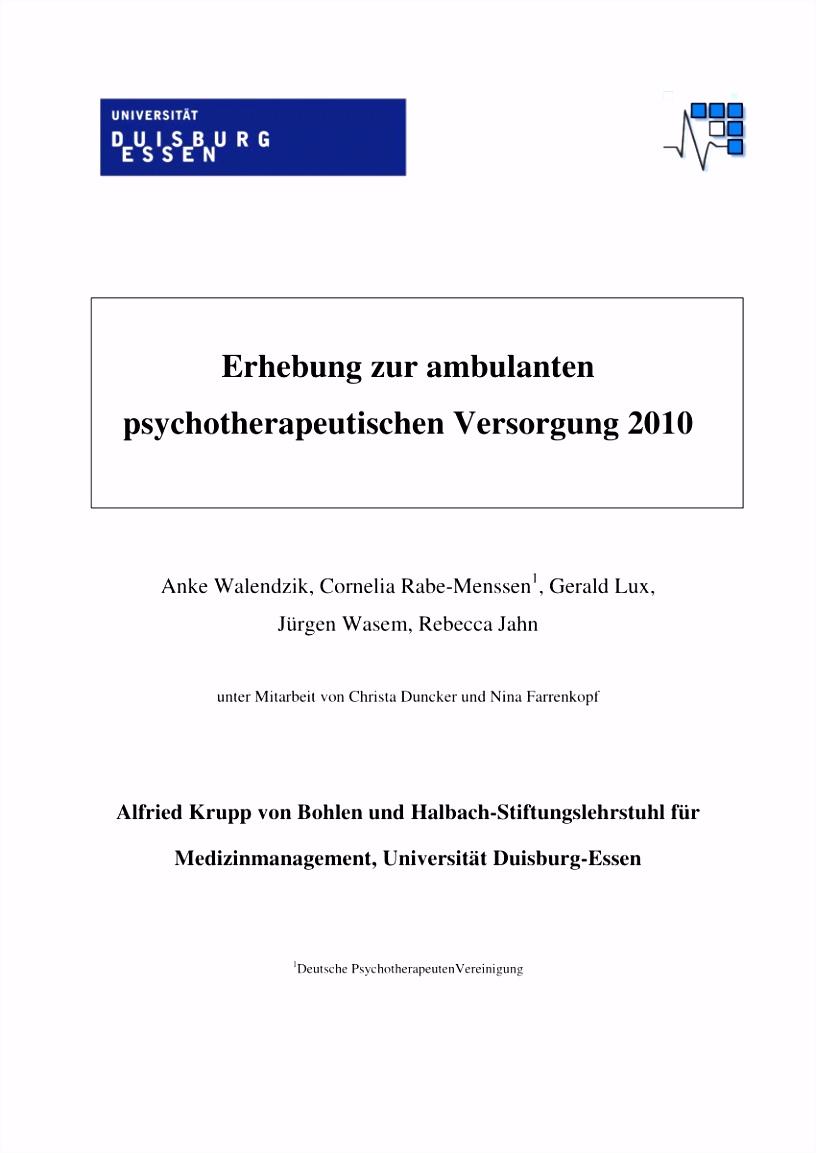 PDF Zur ambulanten psychotherapeutischen Versorgung in Deutschland