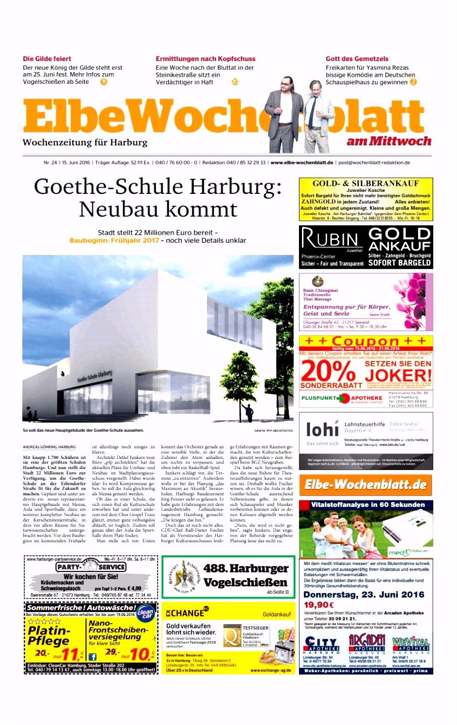 Harburg Kw24 2016 by Elbe Wochenblatt Verlagsgesellschaft Mbh & Co