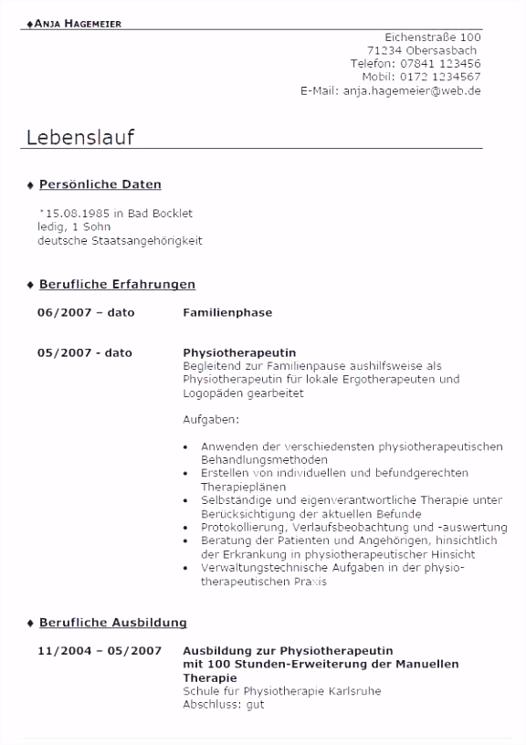16 bewerbung als physiotherapeut