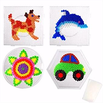 JUSLIN 5mm Bügelperlen Mini Perlen Große Quadra Runde Hexagon