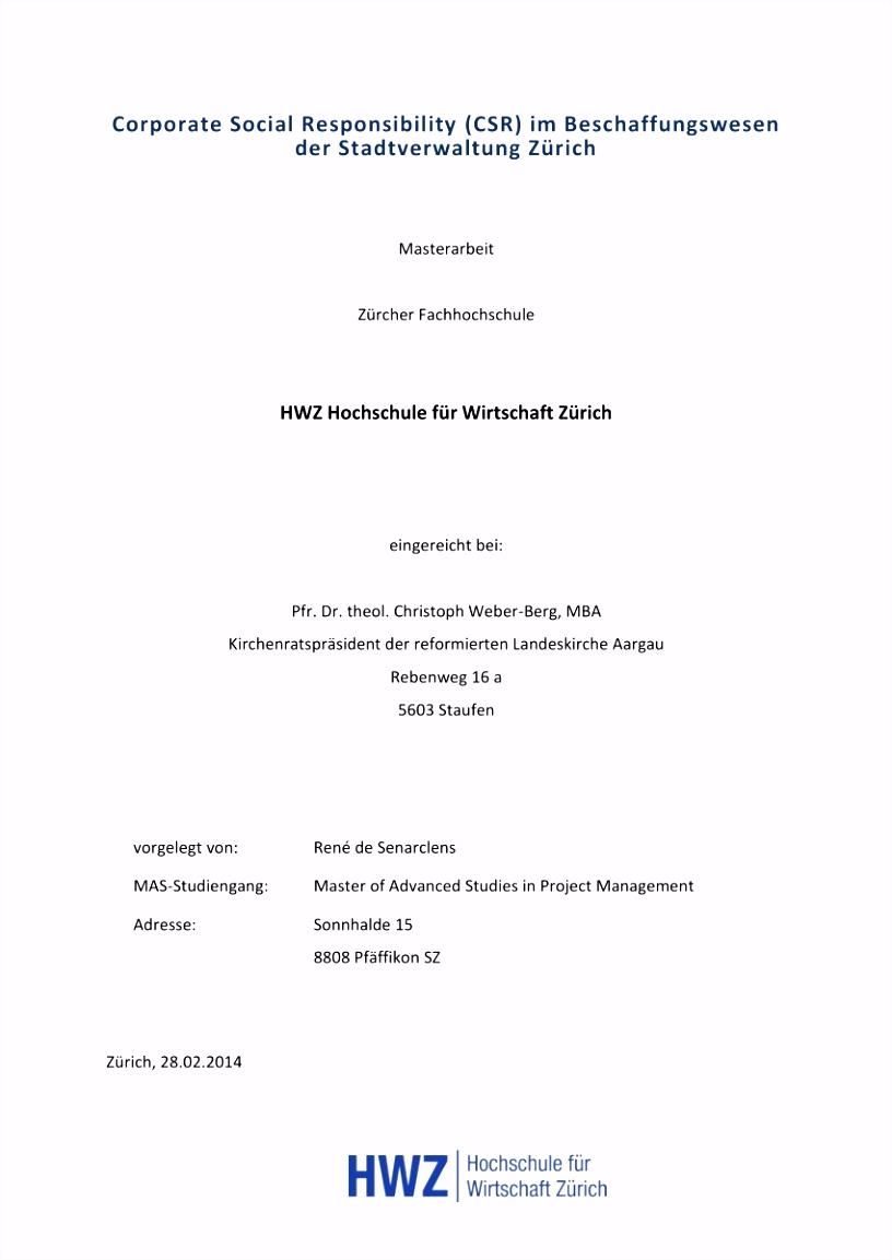 PDF CSR im Beschaffungswesen der Stadtverwaltung Zürich