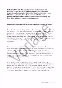 Google AdSense Datenschutzerklärung anpassen