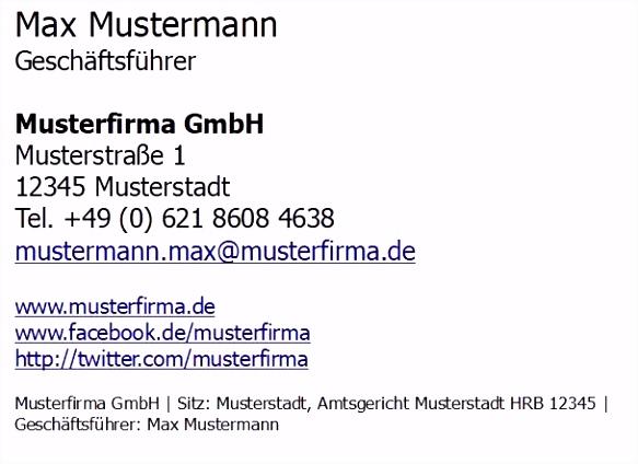 Schön E Mail Signatur Beispiel — TRXITALIA TRXITALIA