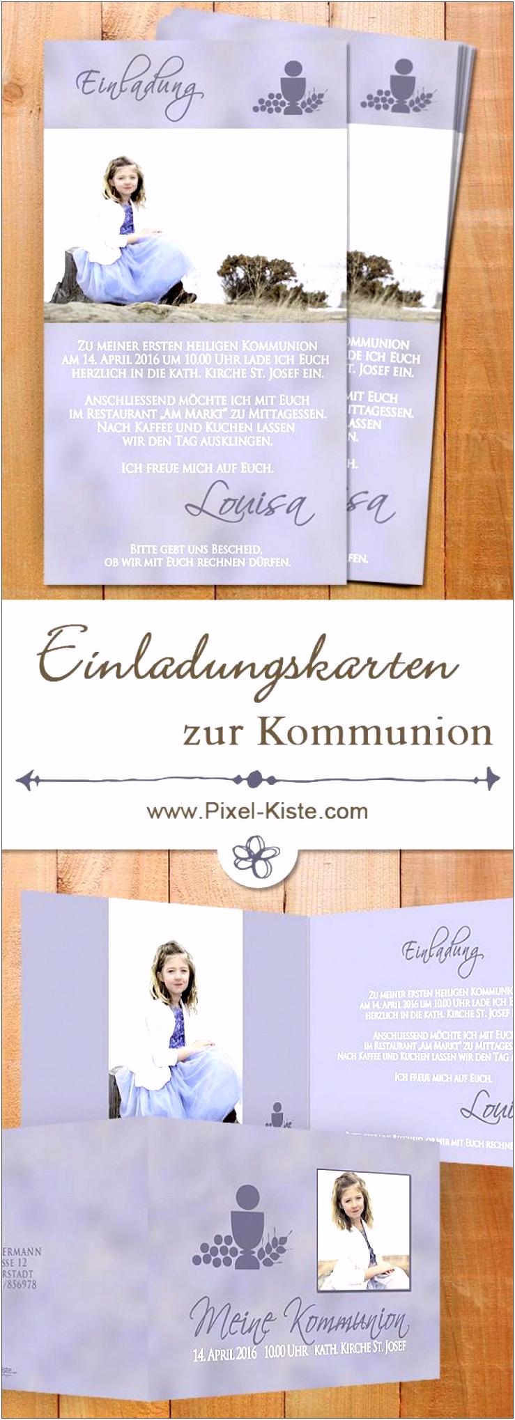 Einladungskarten Zur Erstkommunion Schön Konfirmation Einladung