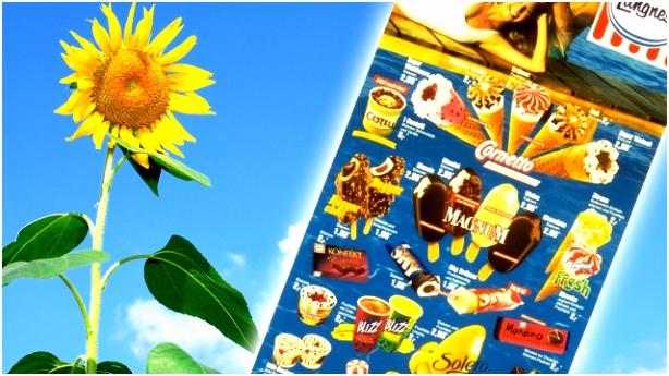Langnese verschenkt Retro Plakate Nostalgie Eiskarten kostenlos