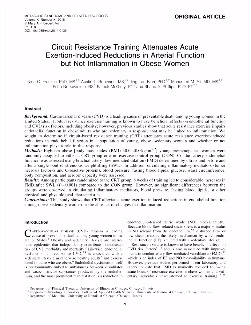 PDF Predicting Maximal Strength in Trained Postmenopausal Woman
