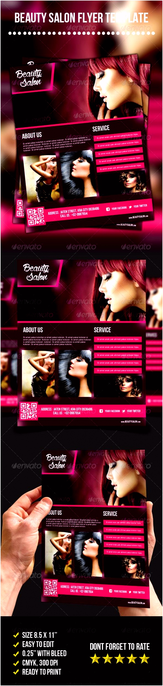 Beauty Salon Flyer graphicriver sale