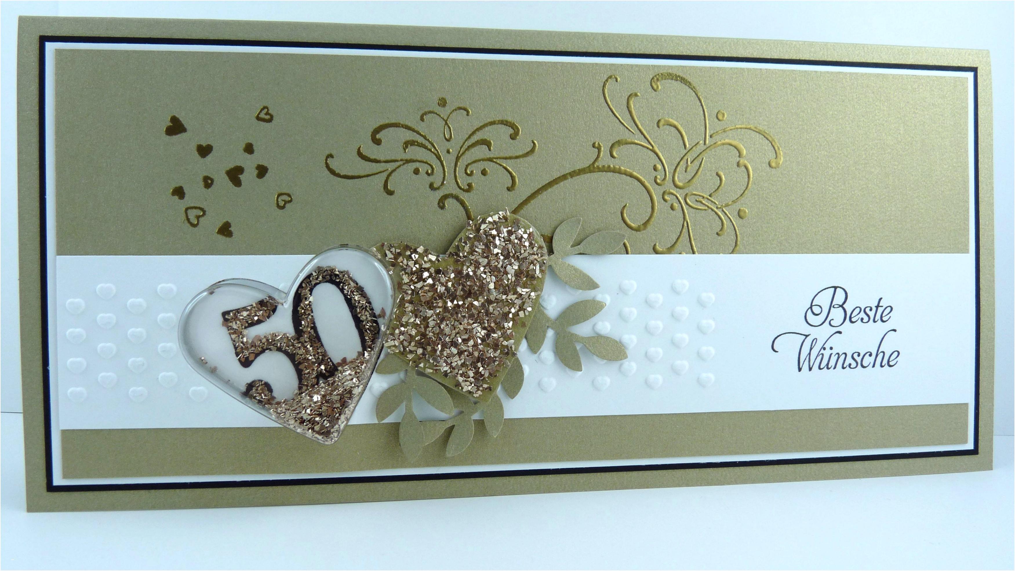 Einladungskarten Goldene Hochzeit Selbst Basteln