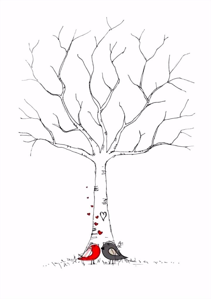 40 Frisch Hochzeitsbaum Fingerabdruck Vorlage Zum Ausdrucken