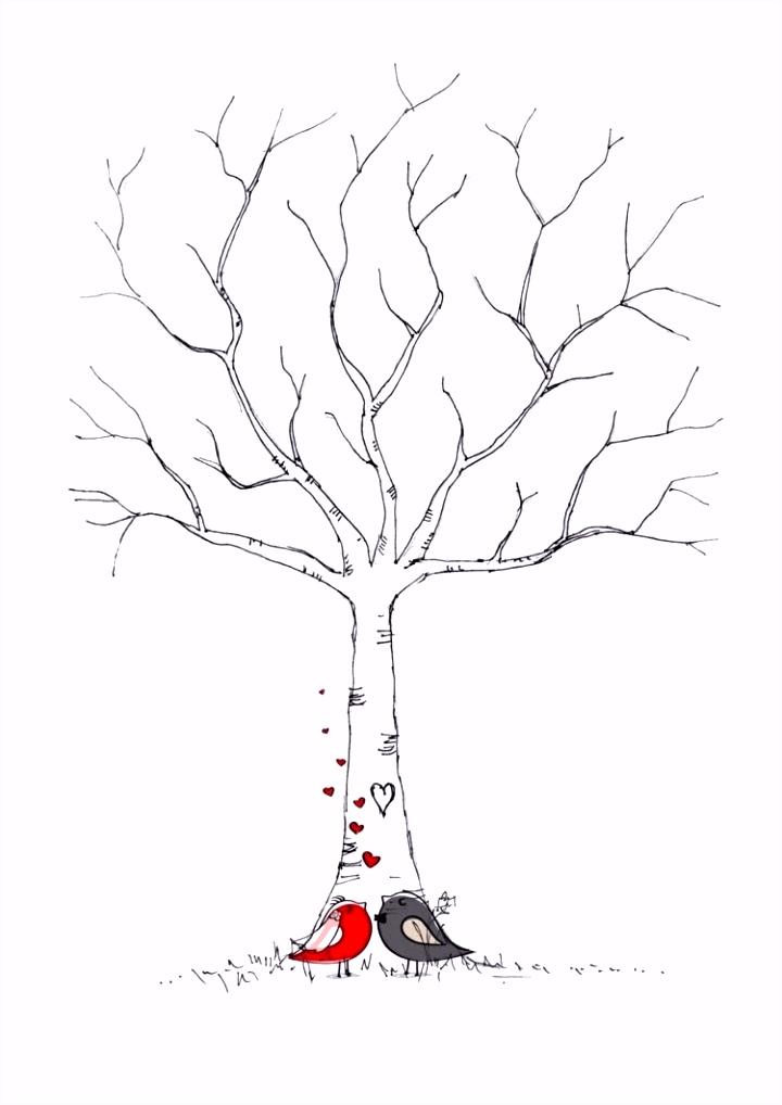 Hochzeitsbaum Vorlage Frisch Besten Der Hochzeitsbaum Fingerabdruck