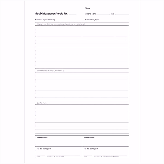 Inspirierende Berichtsheft Vorlage Ihk Download