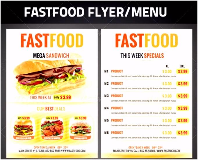 Fast Food Imbiss Flyer Vorlage Pizza Döner Werbung