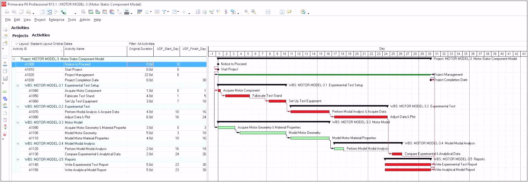 Vorlage Excel Projektplan
