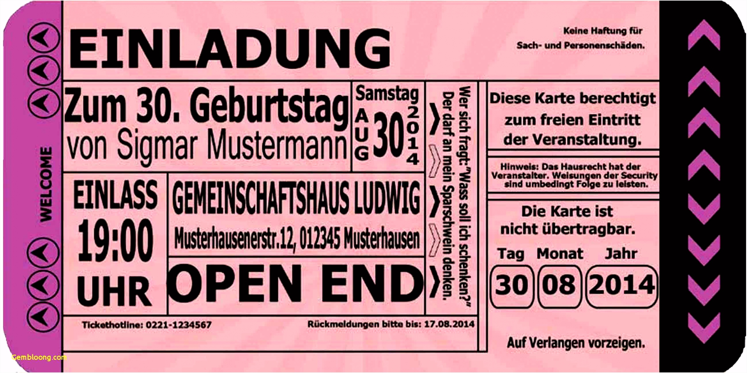 Herunterladbare Einladungskarten 50 Geburtstag Vorlagen