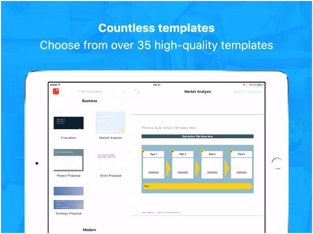 Vorlagen für Keynote Professionell im App Store