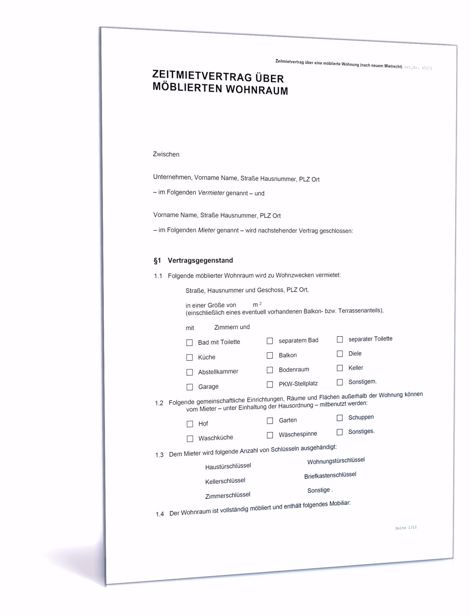 Neues Kündigung Mietvertrag Vorlage Word