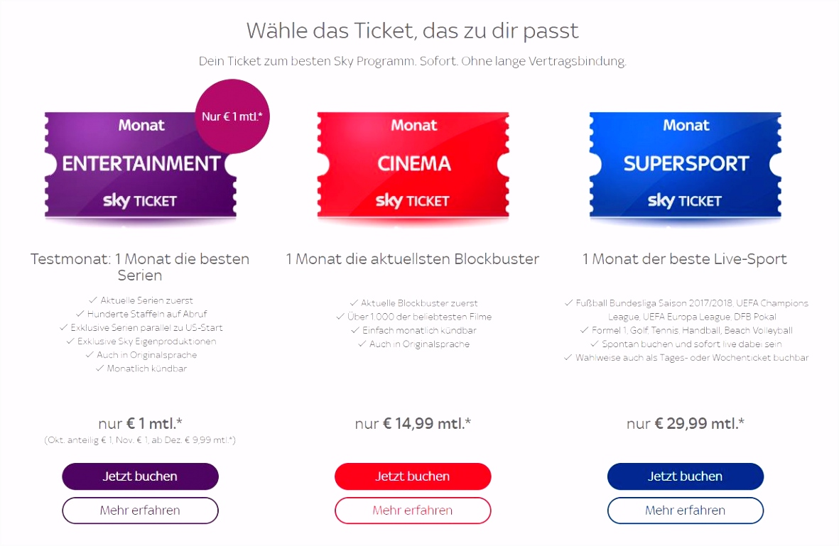 Netflix vs Maxdome vs Amazon Prime vs Sky Ticket Sieger