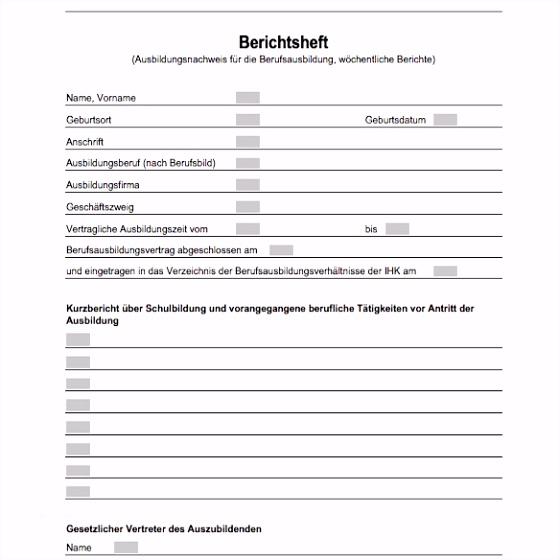 Langzeitlieferantenerklärung Ihk Vorlage Wunderbar Ihk Berichtsheft