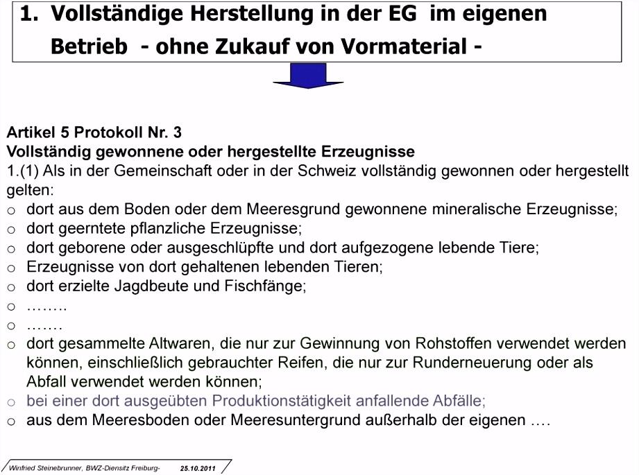 Lieferantenerklärung und Zollpräferenz Winfried Steinebrunner