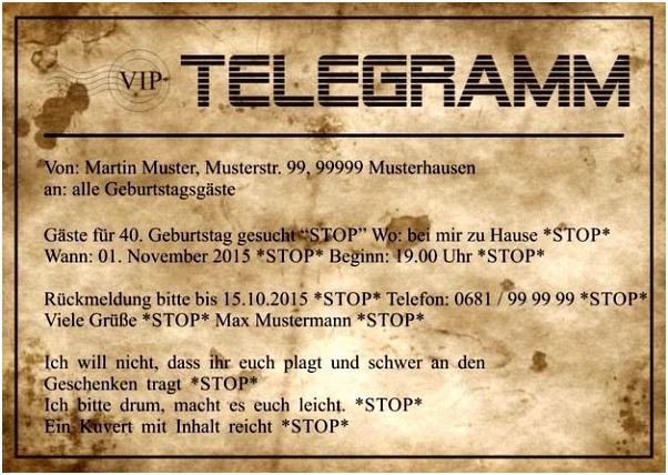 Einladung Zum 40 Geburtstag Text Geschenk 40 Geburtstag – Vorlagen