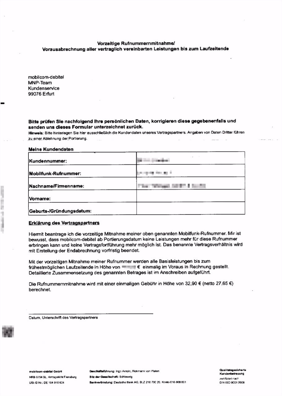 Kundigung Mobil Vorlage 1880 2320 Mobil Debitel Kndigung