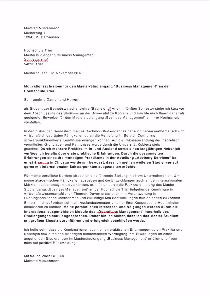 Motivationsschreiben Stipendium Muster Pdf Motivationsbrief Deutsch