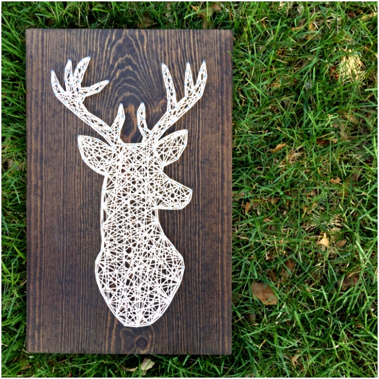 MADE TO ORDER String Art Deer Head Sign