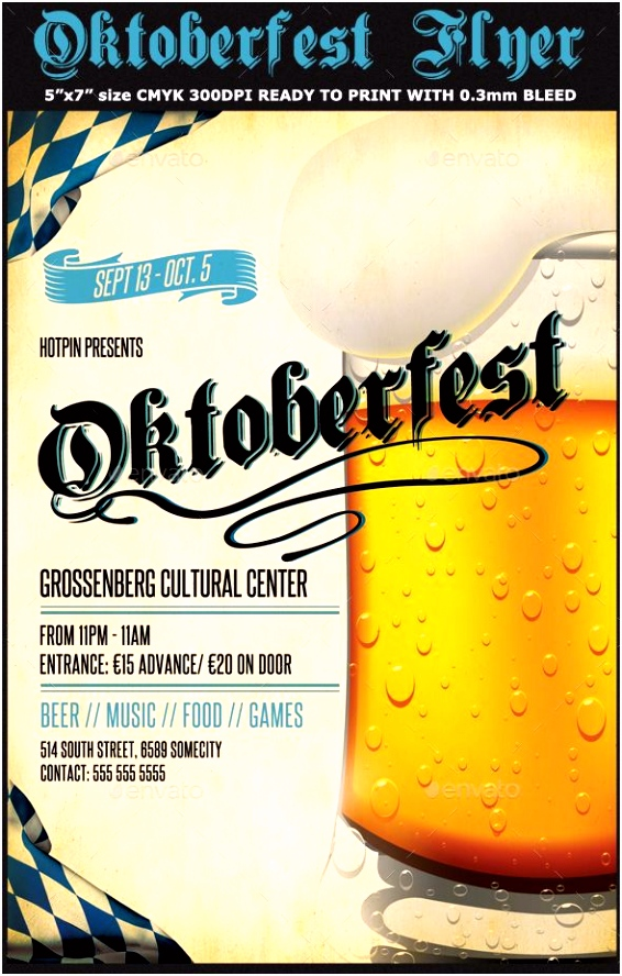 Oktoberfest Flyer Template Events Flyers