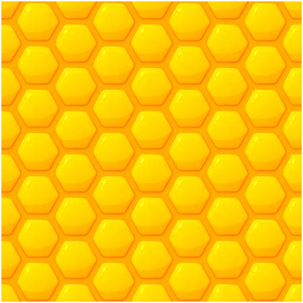 Vector Honig Hintergrund Flüssige Honigtropfen Und Waben Design