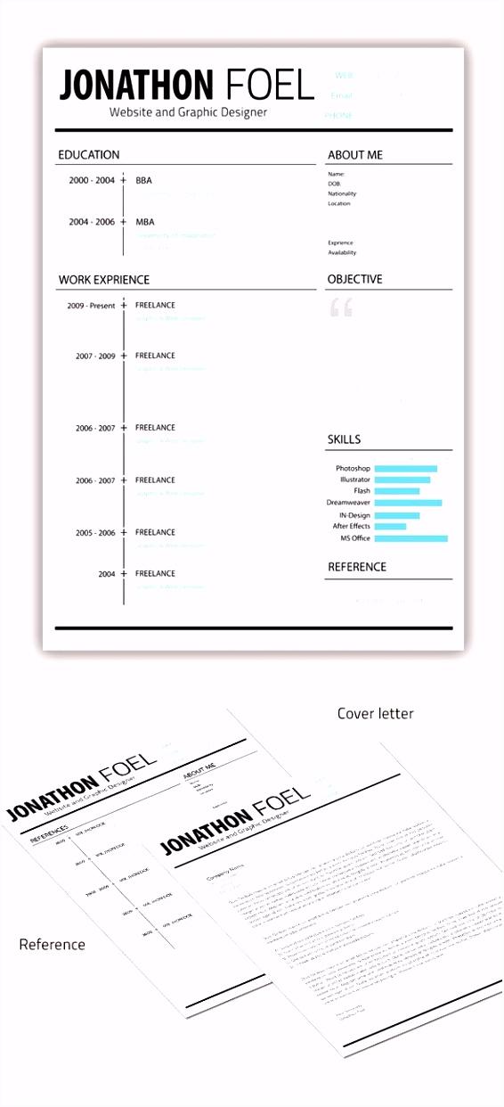 Minimal Resume CV Template designs