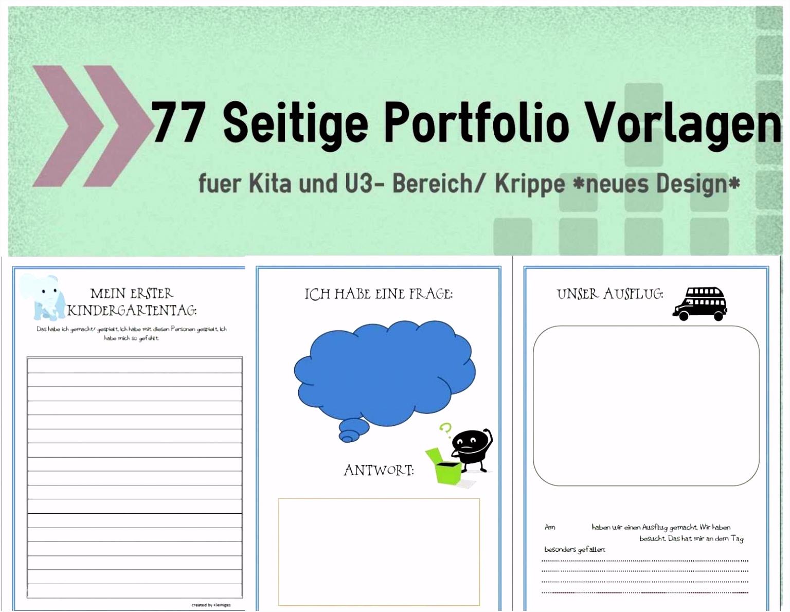 40 Portfolio Kindergarten Vorlagen Pdf Design