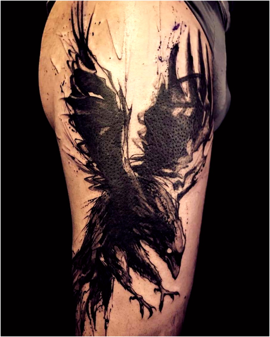Raven forearm tattoo Tattoo ideas Pinterest