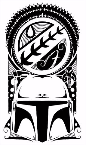 Boba Fett tattoo design Maori tattoos