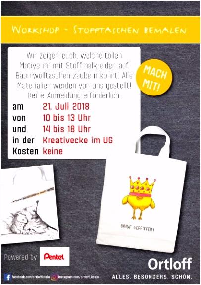 Kostenlose Workshops am 20 und 21 Juli Ortloff Bürobedarf Köln