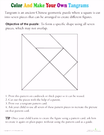 Color a Tangram Template Geometry