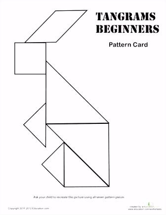 Easy Tangrams Puzzle 8 TANGRAMS TETRIS ETC