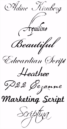 13 Best Cursive Tattoo Fonts images