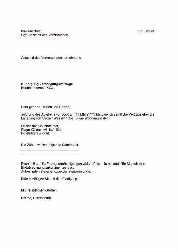 39 Neu Galerie Der Außerordentliche Kündigung Telekom Umzug Vorlage