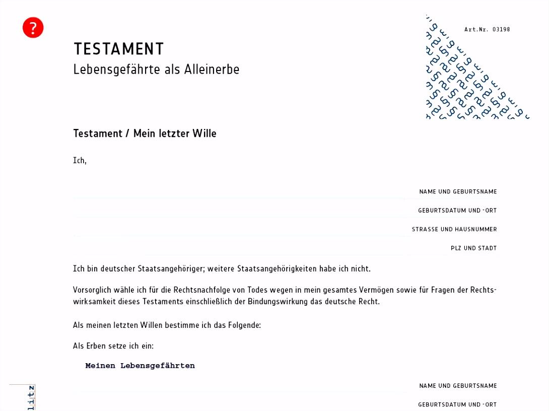 Vorlage Berliner Testament Kostenlos Genial Handschriftliches mit
