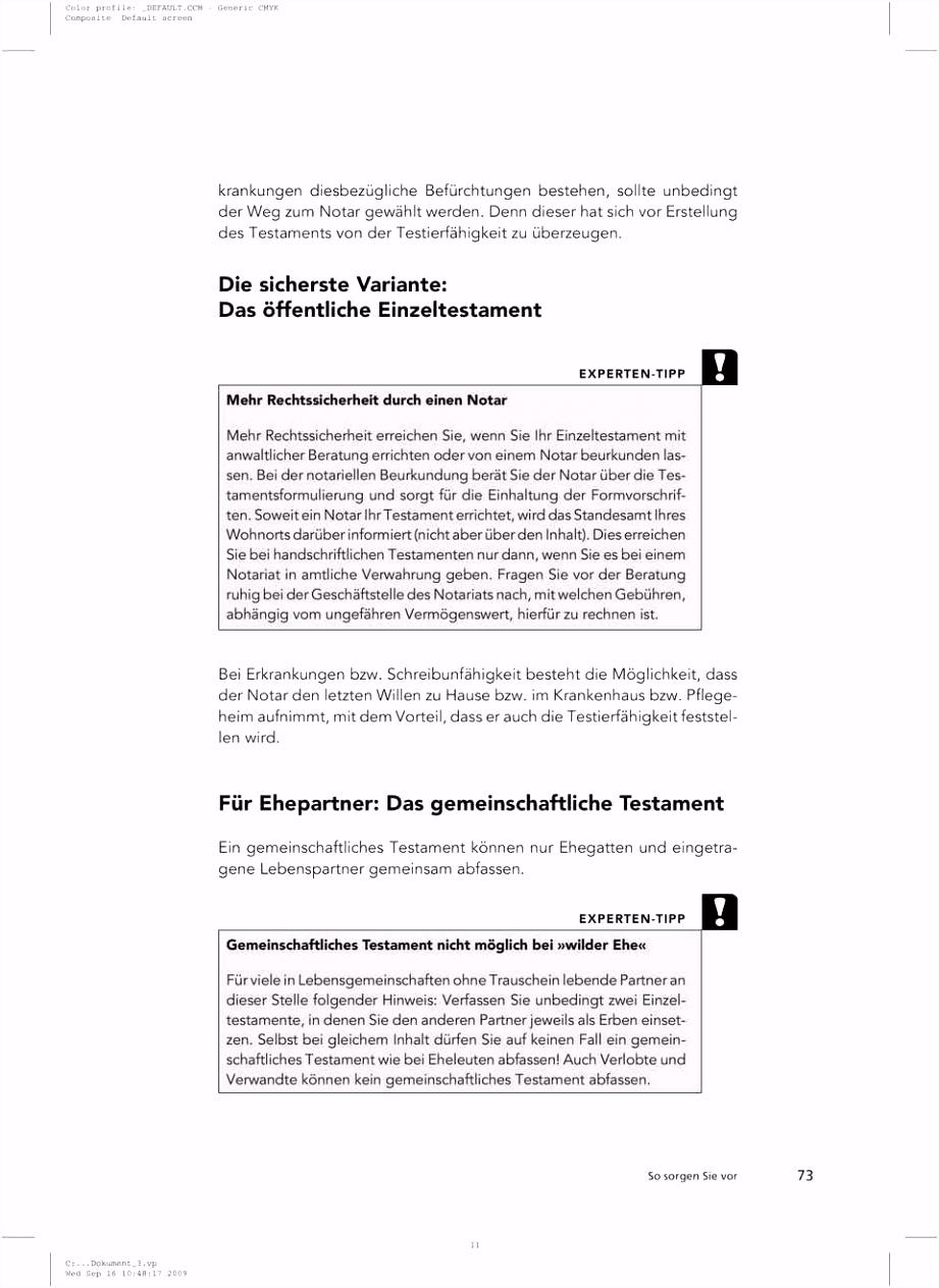 Editierbar Testament Handschriftlich Muster