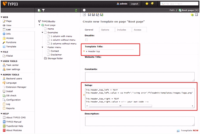 TYPO3 Add typoscript sub templates to typoscript main template
