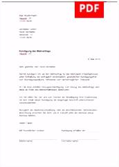 Sonderkündigung Muster & Vorlage für Sonderkündigung