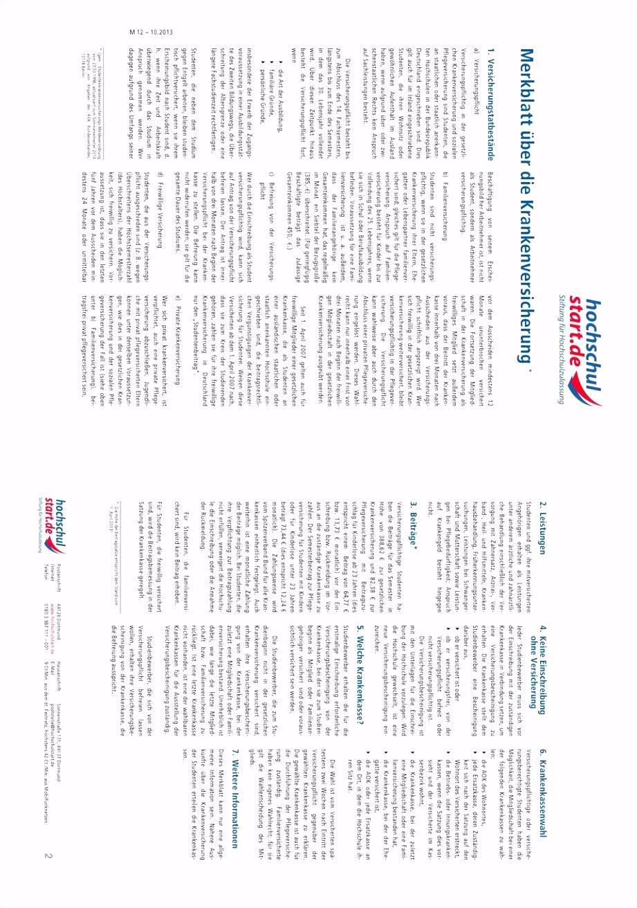 Antrag auf Zulassung Immatrikulation für das Studium im