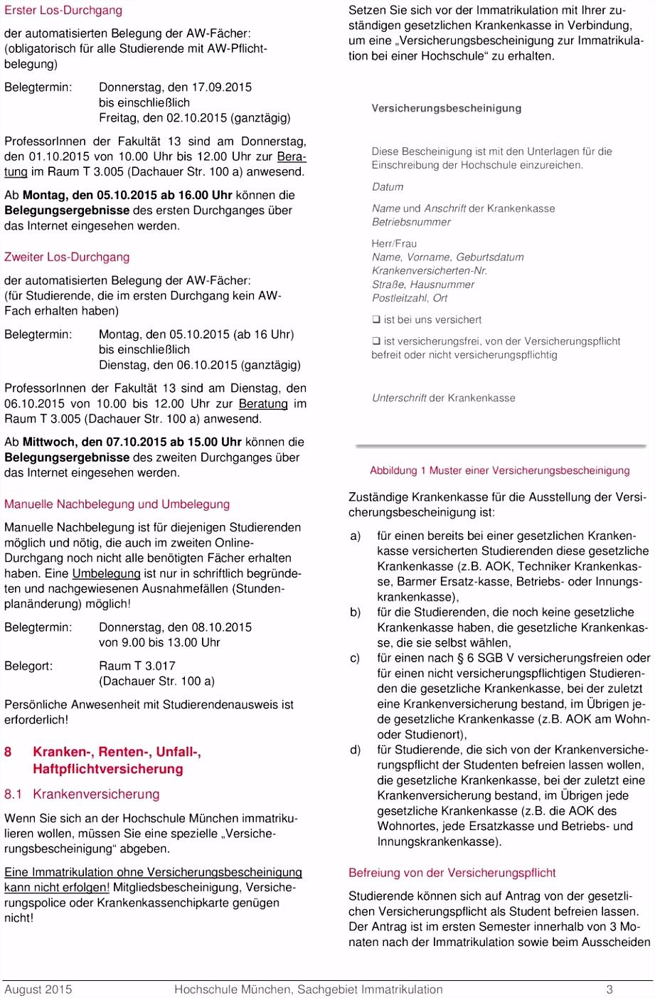 Informationen zur Immatrikulation zum Wintersemester 2015 PDF